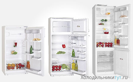 Холодильники атлант ассортимент